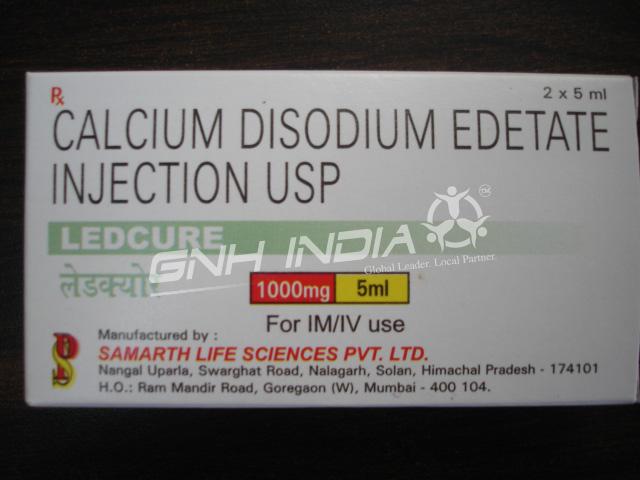 Calcium Disodium Edetate Injection USP 1000mg / 5ml (Ledcure)