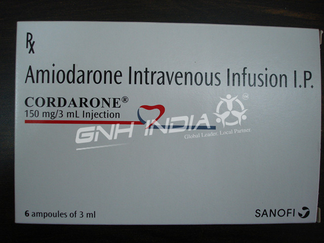 Intravenous infusion amiodarone