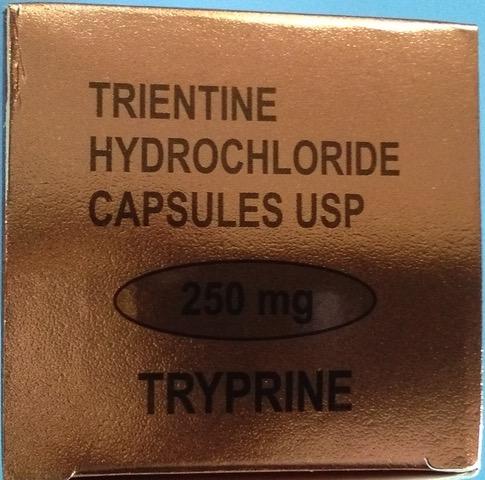 Tryprine 250mg - Trientine Hydrochloride