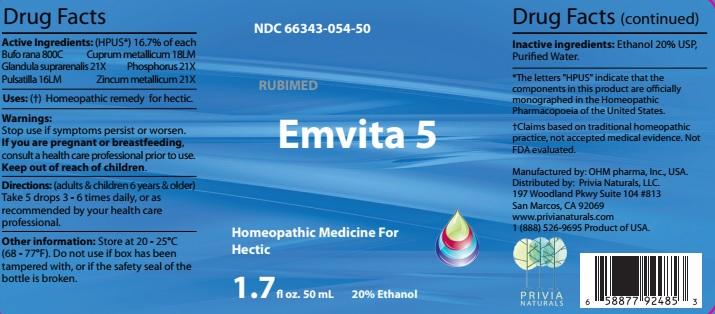 Bufo rana, Glandula suprarenalis, Pulsatilla, Cuprum metallicum, Phosphorus, Zincum metallicum (Emvita 5)