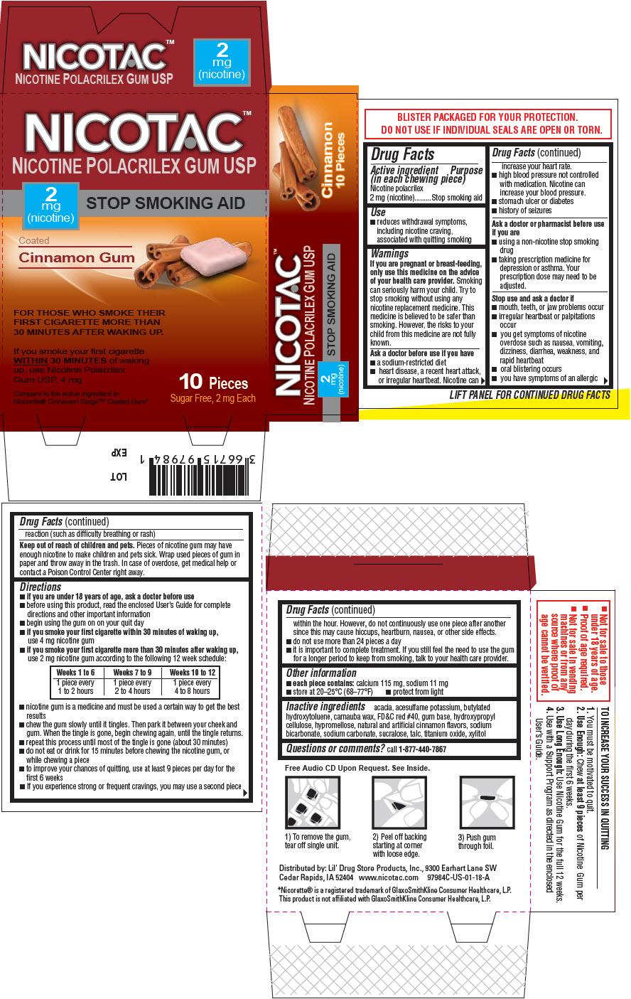 Nicotine - Coated Cinnamon (Nicotac Nicotine Polacrilex)