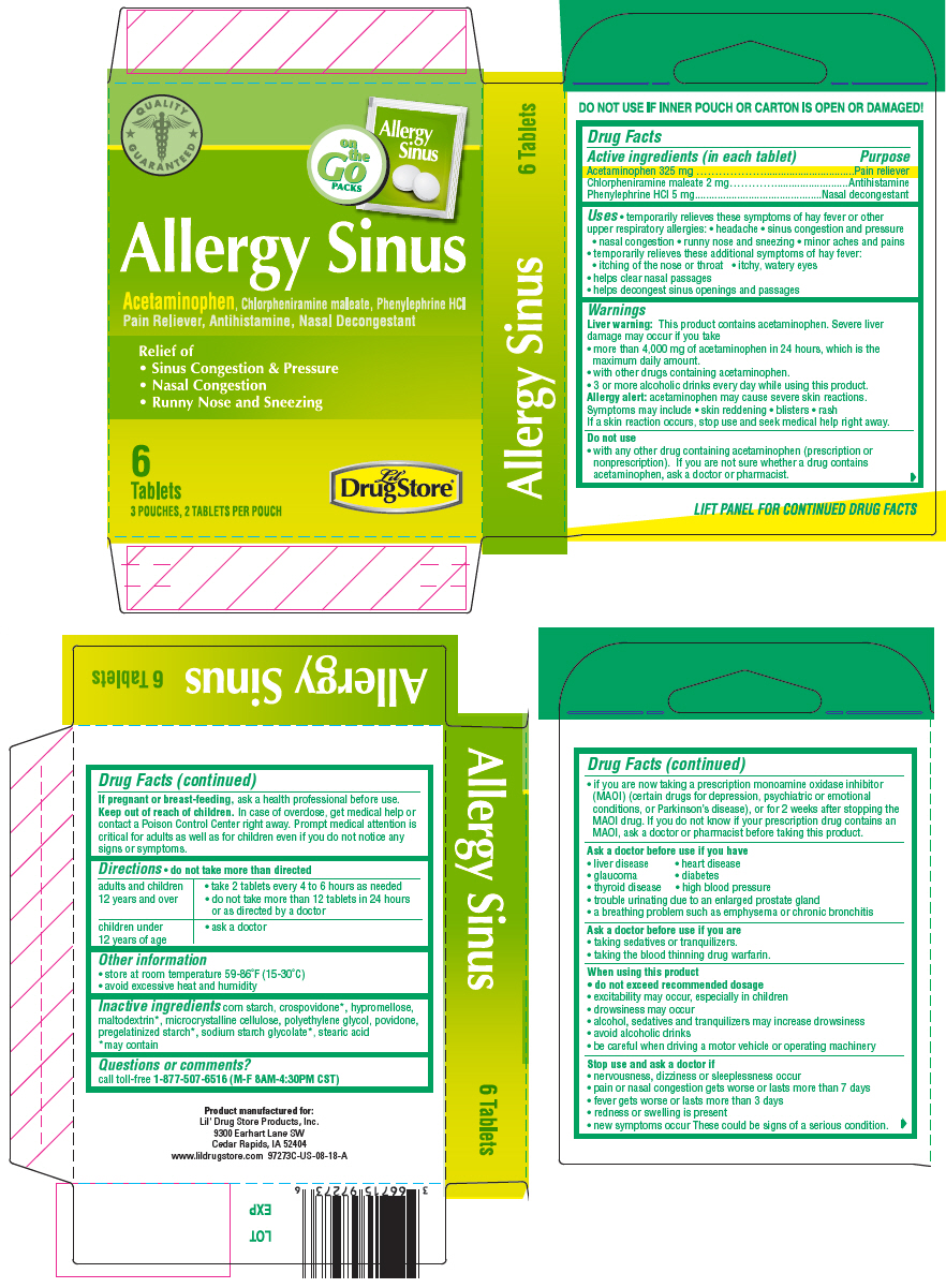Acetaminophen, Chlorpheniramine Maleate, and Phenylephrine Hydrochloride (Lil Drug Store Allergy Sinus Relief)