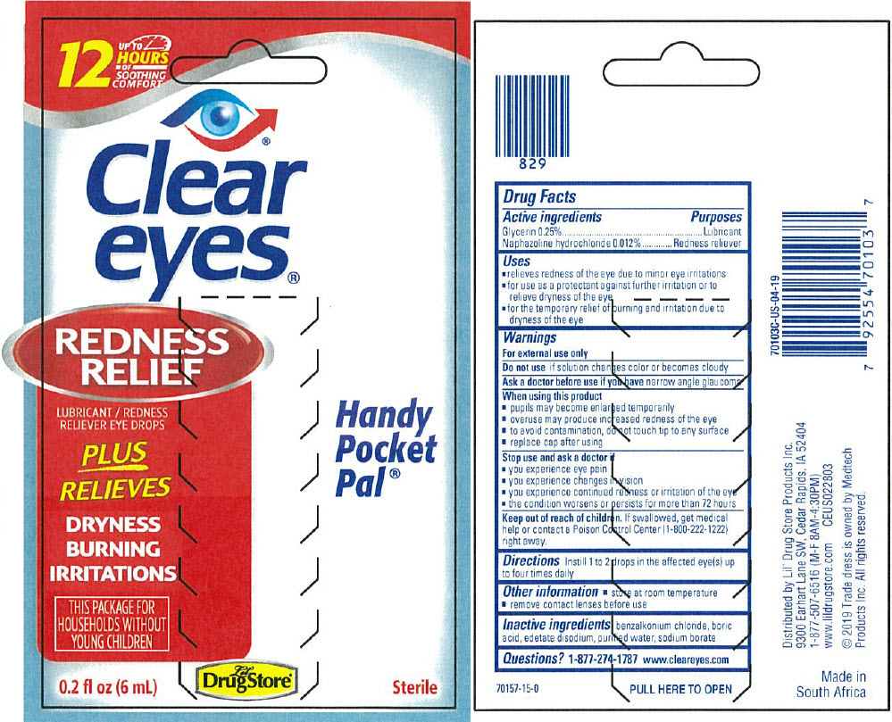 Naphazoline Hydrochloride and Glycerin (Cleareyes Redness Relief)
