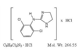 clonidine hydrochloride (clonidine hydrochloride)
