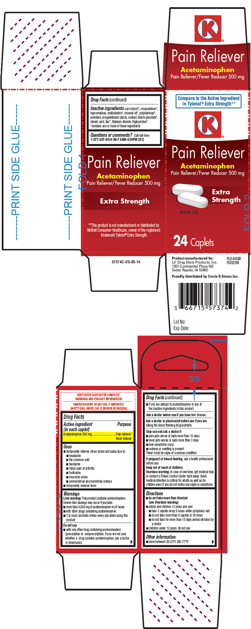 Acetaminophen (Circle K Pain Reliever)