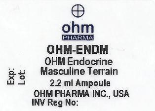 Agnus Castus, Caladium Seguinum, Damiana, Ginseng, Lycopodium Clavatum, Orchitinum, Sabal Serrulata, Selenium Metallicum, Zincum Metallicum. (OHM Endocrine Masculine Terrain)