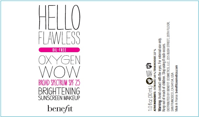 OCTINOXATE, TITANIUM DIOXIDE (BENEFIT HELLO FLAWLESS OXYGEN WOW Broad Spectrum SPF 25 BRIGHTENING MAKEUP - Im All The Rage)