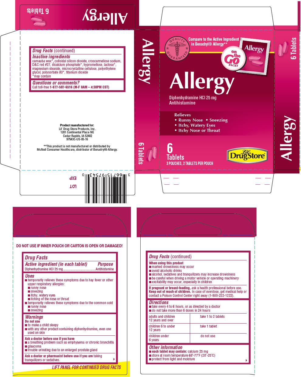 Diphenhydramine Hydrochloride - Antihistamine (Lil Drug Store Allergy)