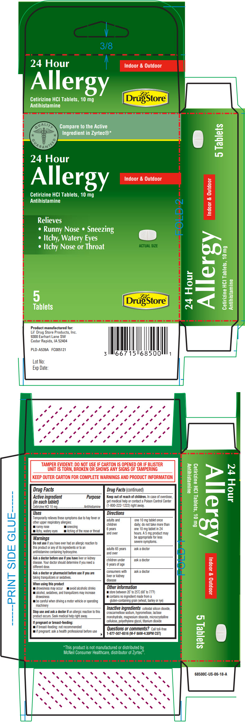 Cetirizine hydrochloride - Lil Drug Store Products (24 Hour Allergy)
