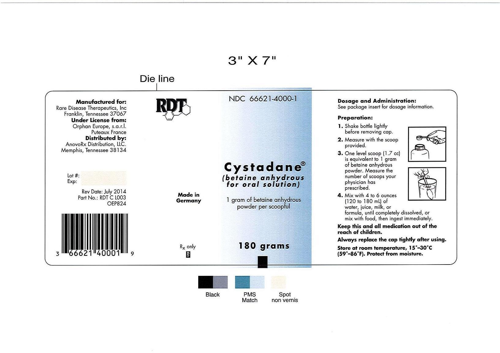 betaine (Cystadane)