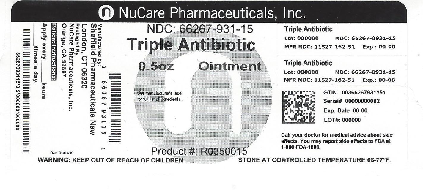 Bacitracin Zinc, Polymyxin B Sulfate, Neomycin Sulfate (Triple Antibiotic)