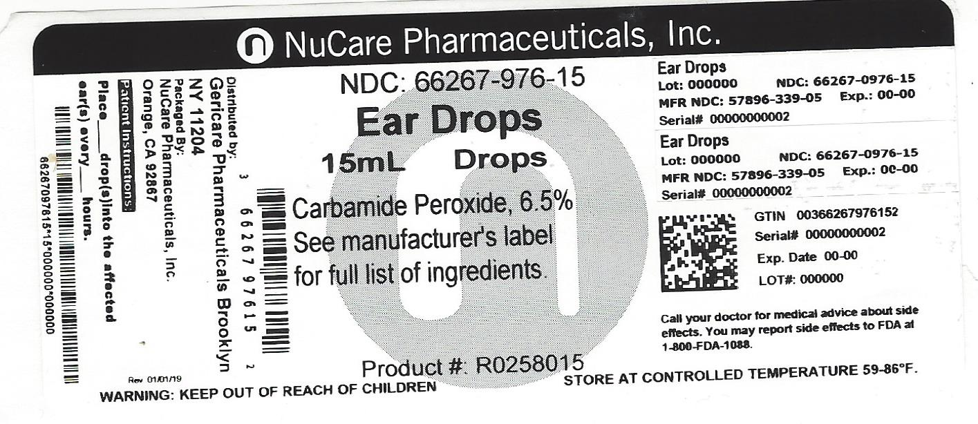 Carbamide Peroxide - 6.5% (Ear Wax Removal Drops)