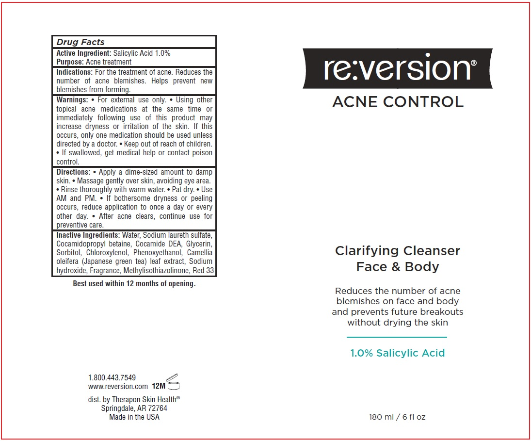 salicylic acid - Clarifying Cleanser Face And Body (Reversion Acne Control)