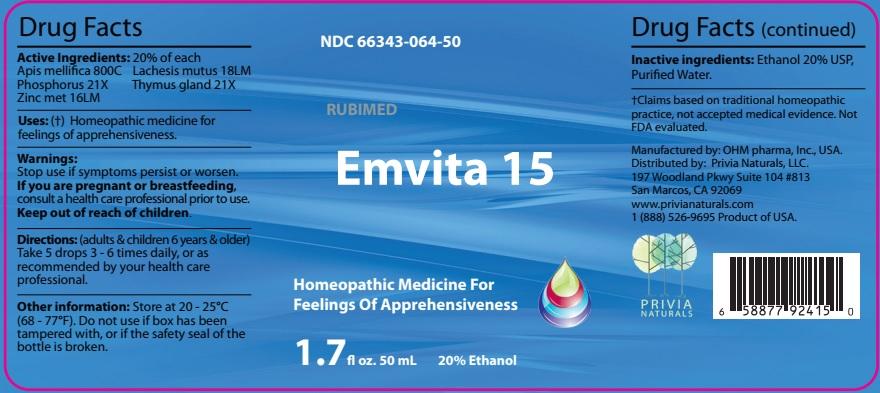 Apis mellifica, Phosphorus, Zinc met, Lachesis mutus, Thymus gland (Emvita 15)