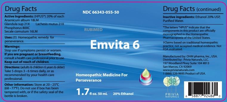 Arsenicum album, Glandula sup, Phosphorus, Secale cornutum, Lachesis mutus (Emvita 6)