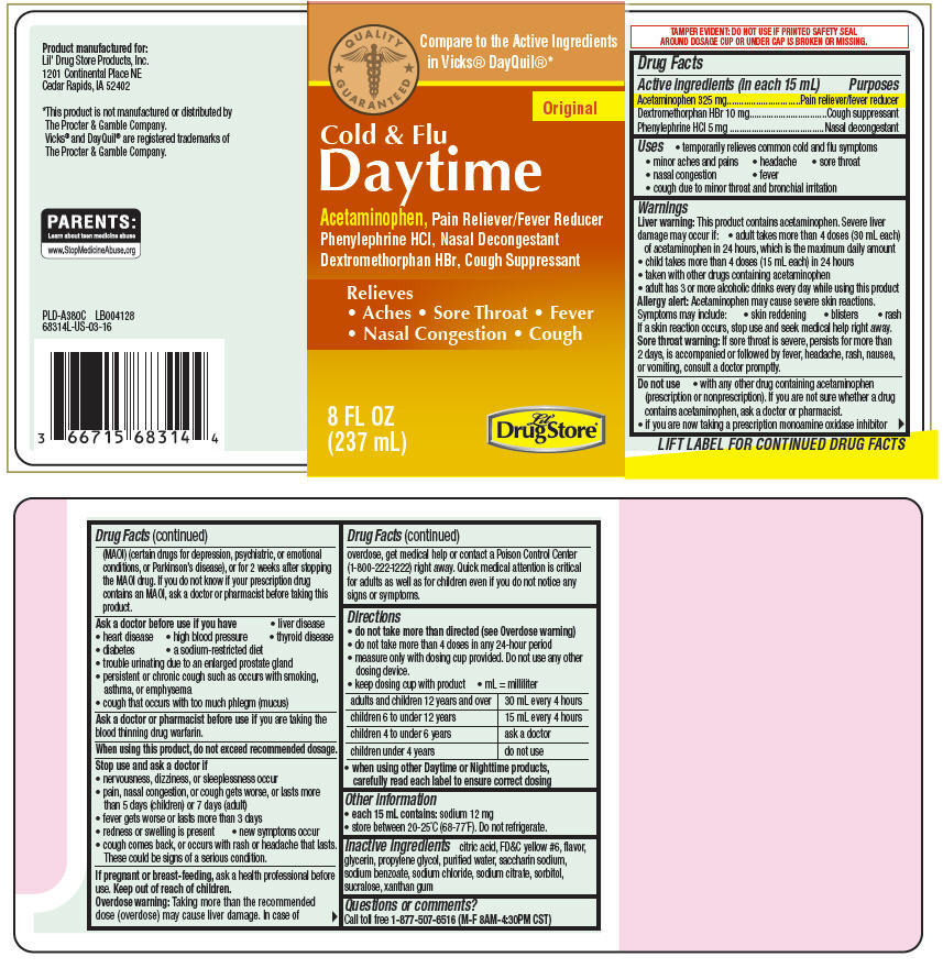 Acetaminophen, Dextromethorphan Hydrobromide, and Phenylephrine Hydrochloride - Lil Drug Store Products (Daytime Cold and Flu)