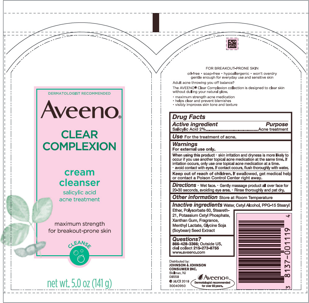 Salicylic Acid (Aveeno Clear Complexion Cleanser)