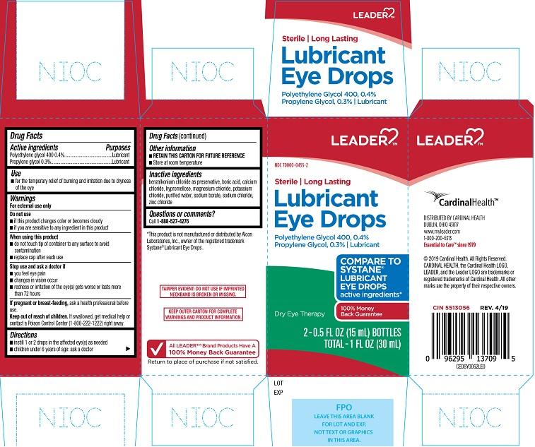 Polyethylene glycol, propylene glycol (Leader Lubricant Eye Drops)