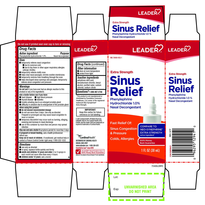 Phenylephrine Hydrochloride (Extra Strength Sinus Relief Nasal Decongestant)