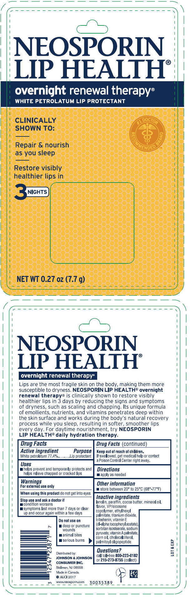 Petrolatum - Overnight Renewal Therapy (Neosporin Lip Health)