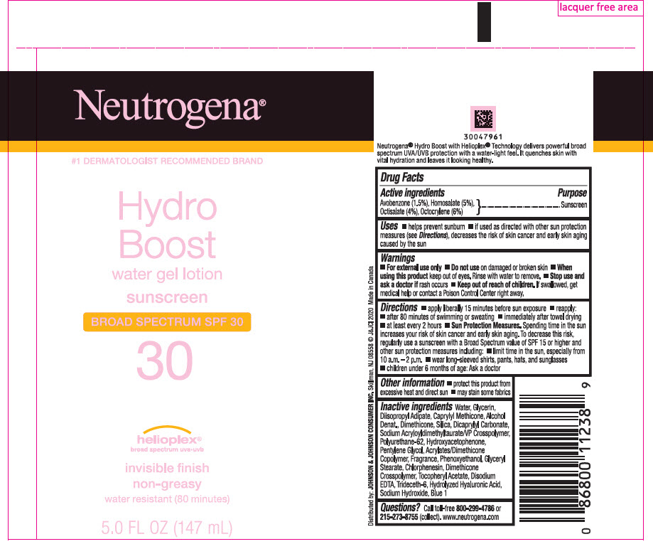 Avobenzone, Homosalate, Octisalate, and Octocrylene (Neutrogena HydroBoost Water Gel Sunscreen Broad Spectrum SPF 30)