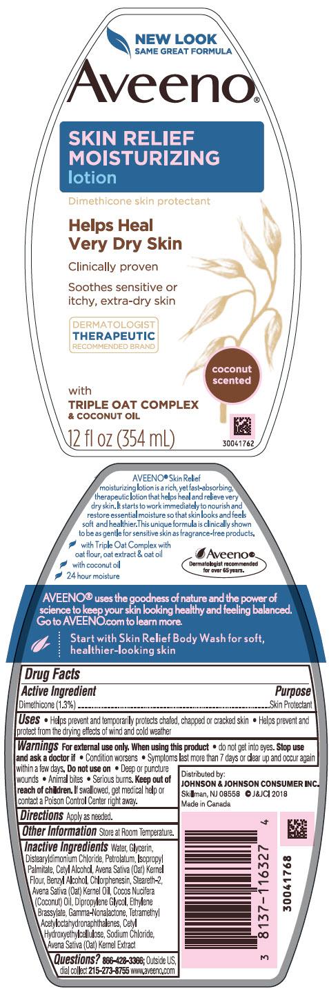 Dimethicone (Aveeno Skin Relief Moisturizing Coconut Scented)