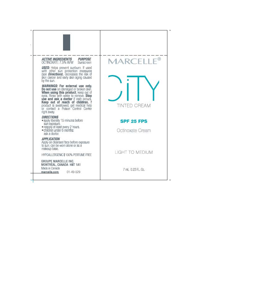 Octinoxate (Marcelle City Tinted Cream SPF 25 Octinoxate Sunscreen)