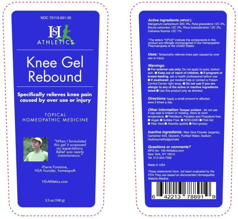 Manganum carbonicum, Ruta graveolens, Baryta carbonica, Rhus toxicodendron, Calcarea fluorica (Knee Gel Rebound)