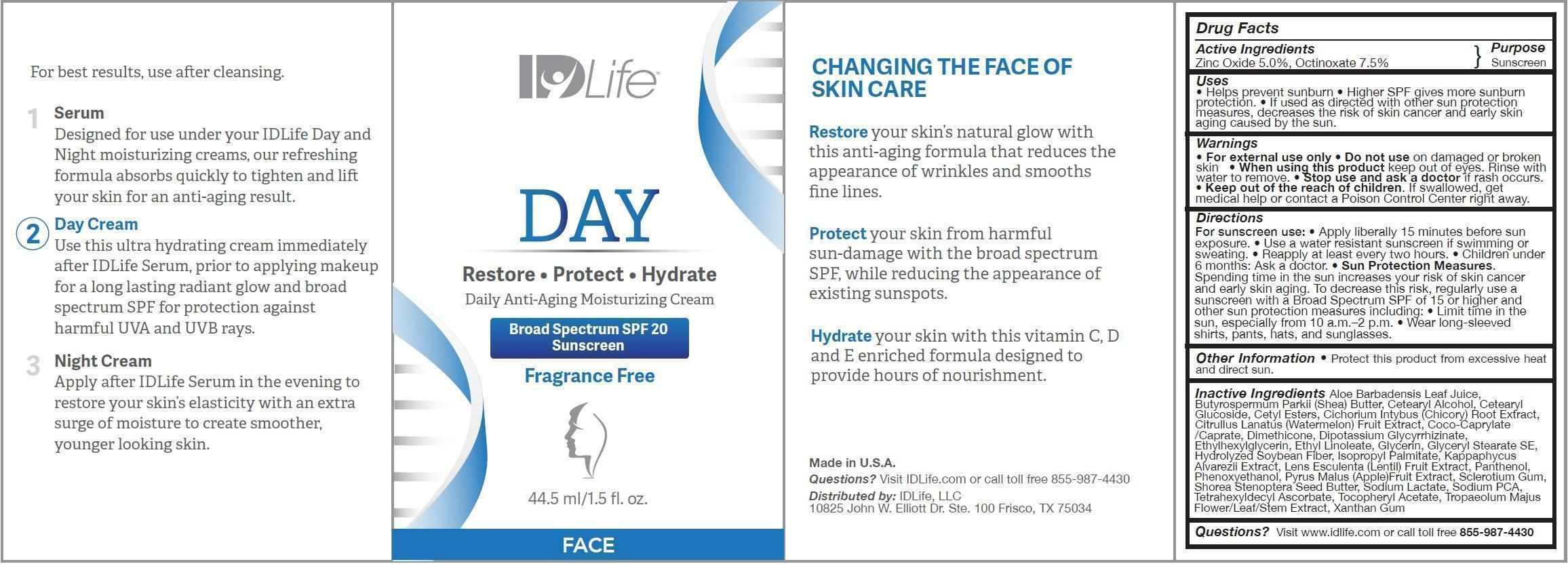 ZINC OXIDE, OCTINOXATE (DAY Daily Anti-Aging Moisturizing Face Broad Spectrum SPF 20 Sunscreen)