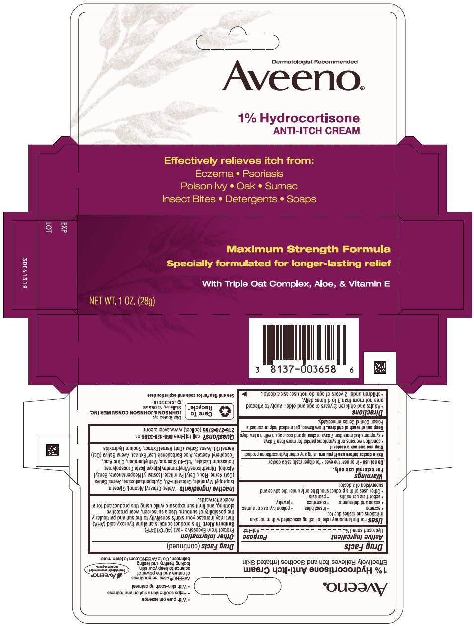 Hydrocortisone (Aveeno Hydrocortisone ANTI-ITCH)