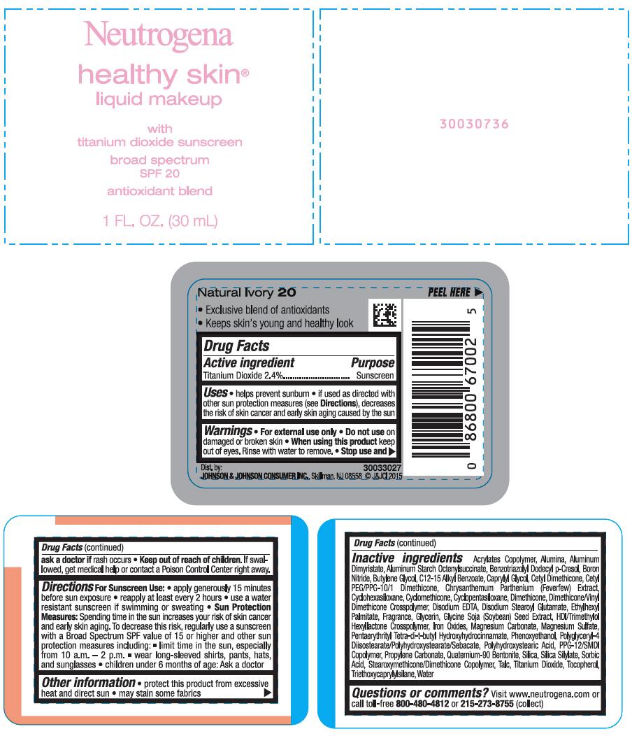Titanium Dioxide - Sunscreen Broad Spectrum SPF20 - Classic Ivory 10 (Neutrogena Healthy Skin Makeup)