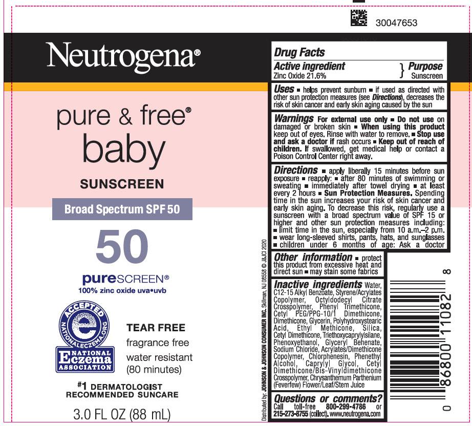Zinc Oxide - SUNSCREEN Broad Spectrum SPF 50 (Neutrogena pure and free baby)