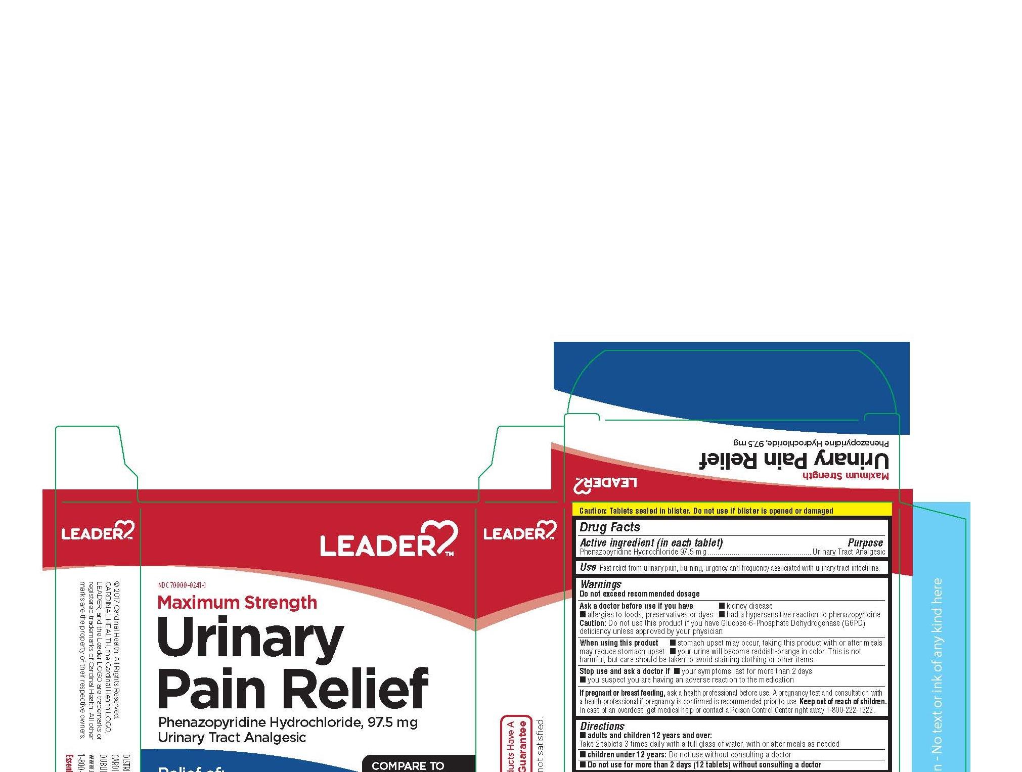 PHENAZOPYRIDINE HYDROCHLORIDE (Leader Maximum Strength Urinary Pain Relief)