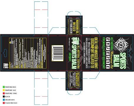 camphor, eucalyptus oil, menthol (Sports Balm)