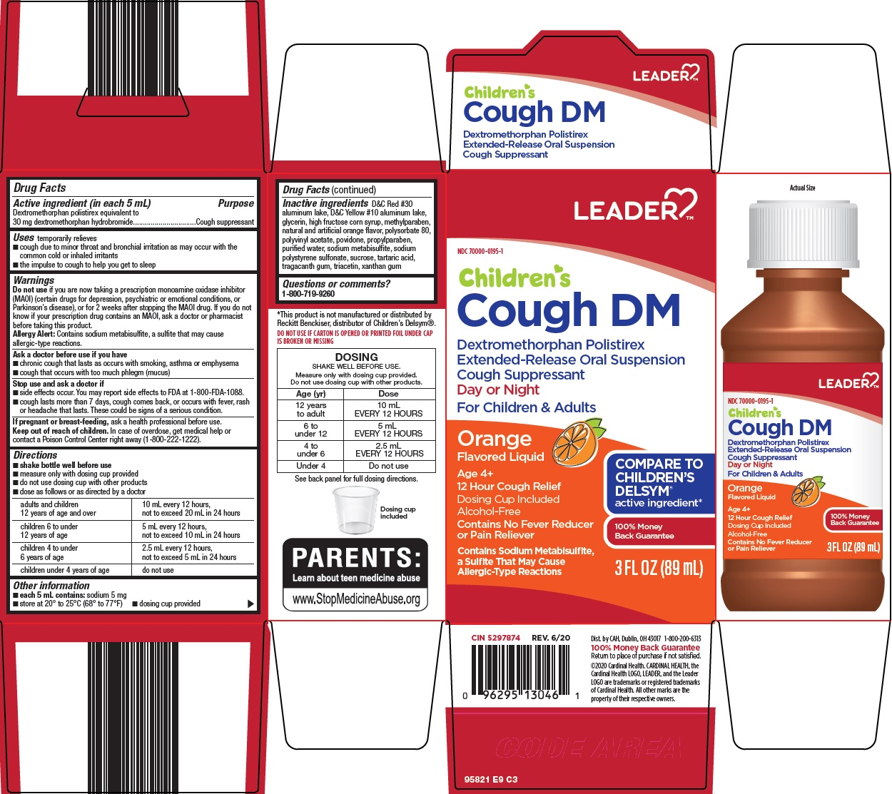 dextromethorphan polistirex (leader childrens cough dm)