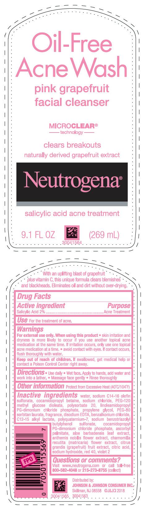 Salicylic Acid - Pink Grapefruit Facial Cleanser (Neutrogena Oil Free Acne Wash)