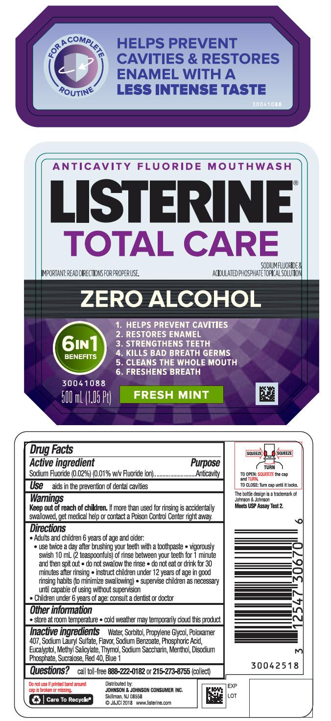 Sodium Fluoride - Fresh Mint (Listerine Total Care Zero Alcohol Anticavity)