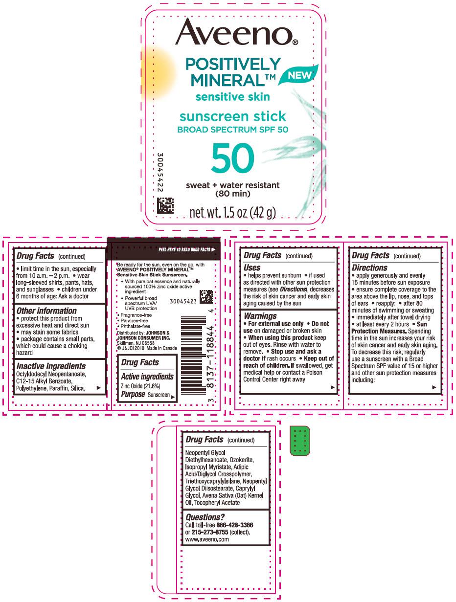 Zinc Oxide (Aveeno Positively Mineral Sensitive Skin Sunscreen Broad Spectrum SPF 50)