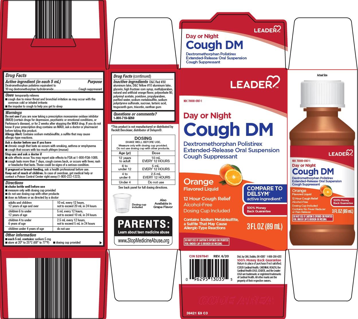 dextromethorphan polistirex (Leader Cough DM)