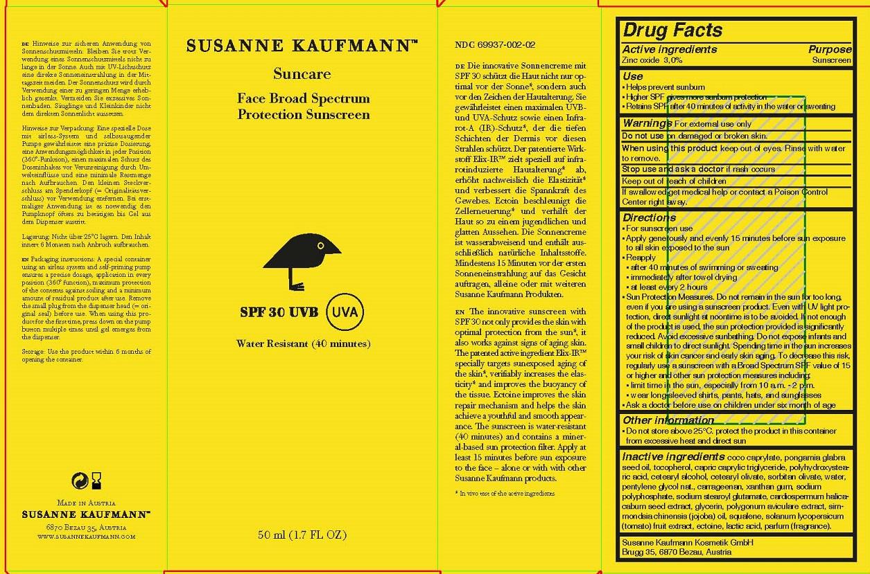 ZINC OXIDE - SPF 30 UVB UVA (SUSANNE KAUFMANN SUNCARE FACE BROAD SPECTRUM PROTECTION SUNSCREEN)