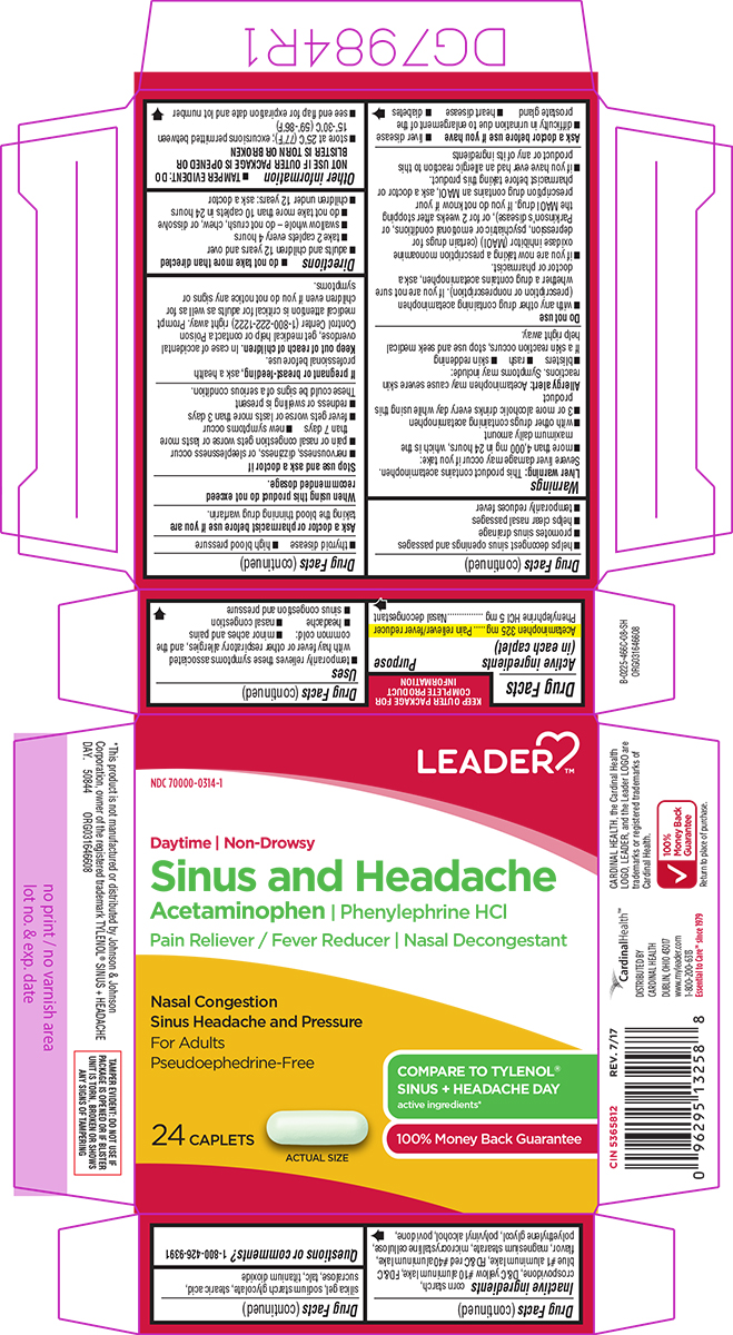 Acetaminophen, Phenylephrine HCl - Daytime, Non-Drowsy (Sinus and Headache)