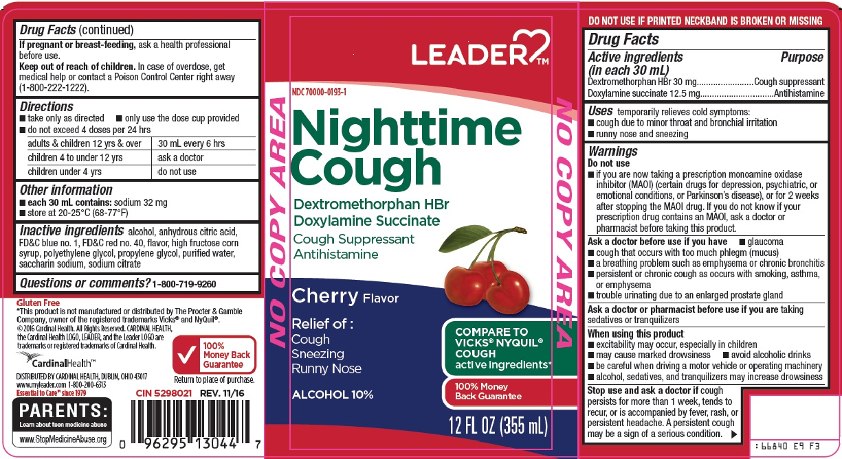 Dextromethorphan HBr, Doxylamine succinate (Leader Nighttime Cough)