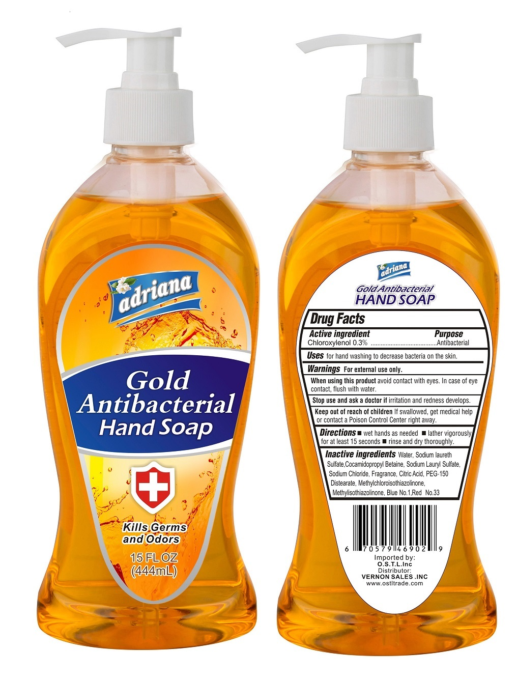Antibacterial Hand Soap Chloroxylenol (adriana Gold)