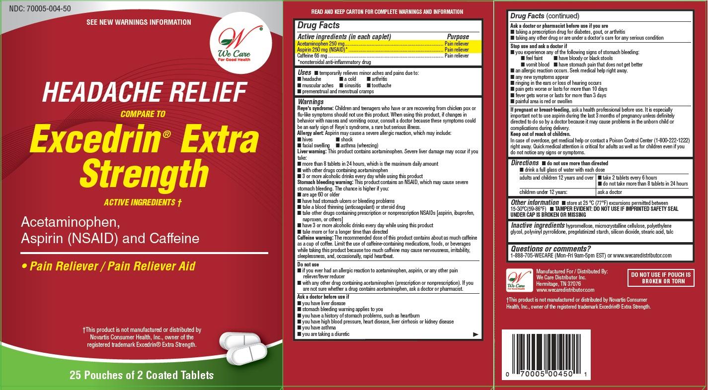 Acetaminophen, Aspirin, and Caffeine (Headache Relief)