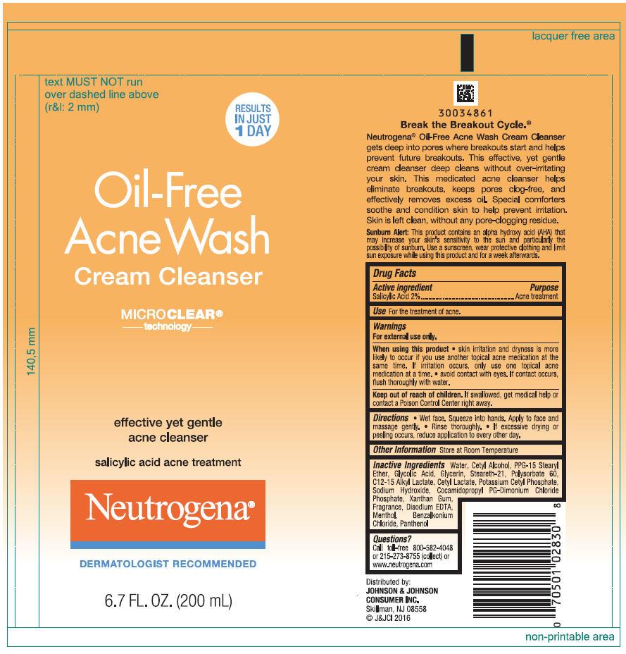Salicylic Acid (Neutrogena Oil Free Acne Wash Cleanser)