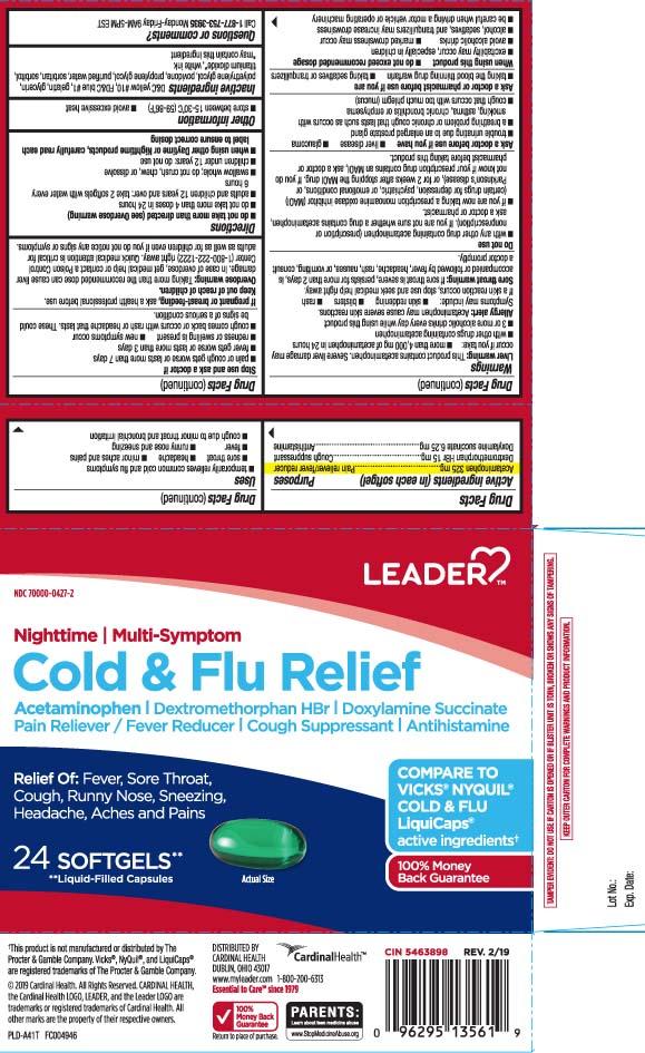 ACETAMINOPHEN, DEXTROMETHORPHAN HYDROBROMIDE, DOXYLAMINE SUCCINATE - Multi Symptom (NightTime Cold and Flu)