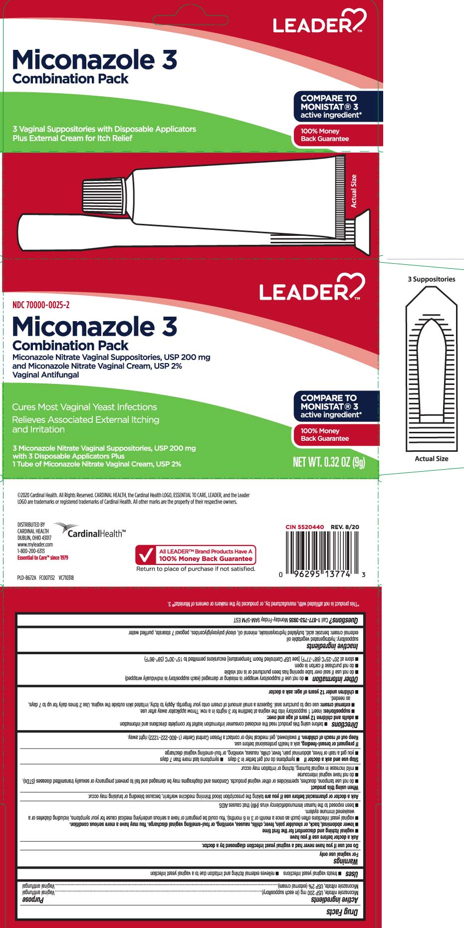 miconazole nitrate (Miconazole 3 Combination Pack)