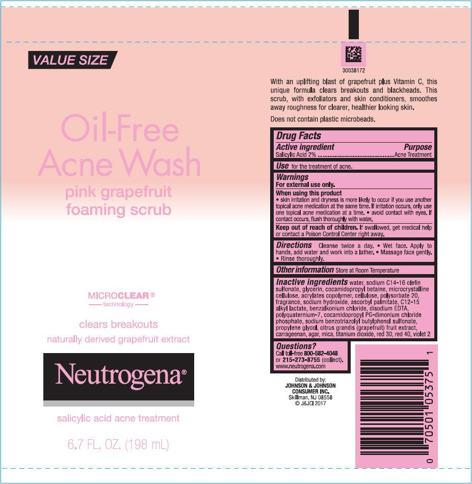 Salicylic acid (Neutrogena Oil-Free Acne Wash Pink Grapefruit Foaming Scrub)