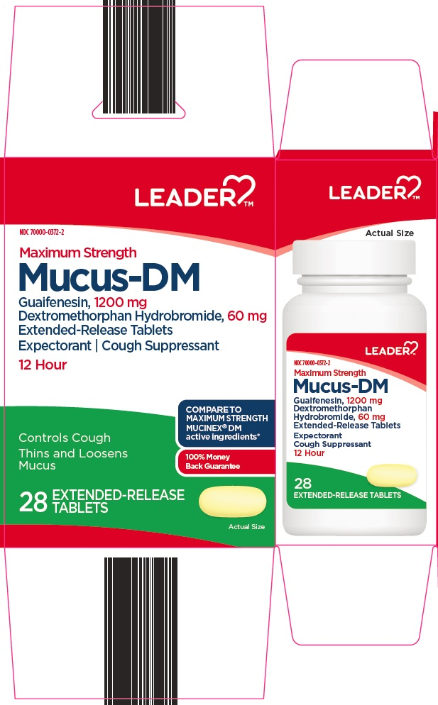 dextromethorphan HBr, guaifenesin (Leader Mucus DM)