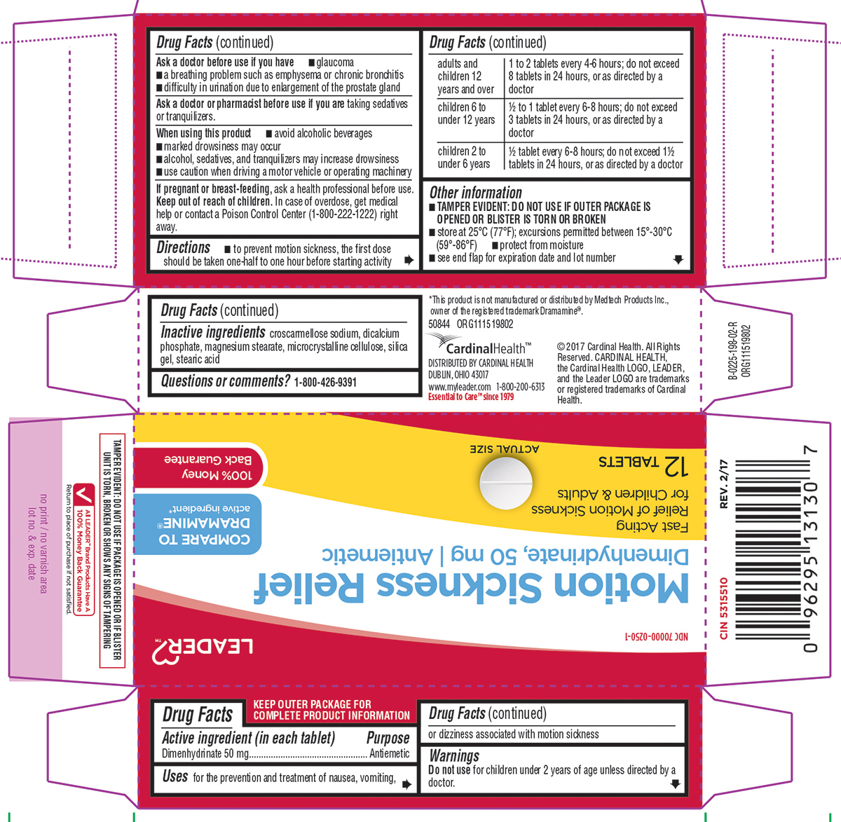 Dimenhydrinate (Motion Sickness Relief)